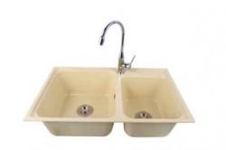 Double bowl sink (Beige)