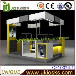 Shopping mall cell phone kiosk