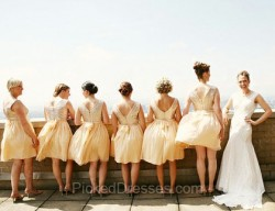 Gold Bridesmaid Dresses Canada | Pickeddresses