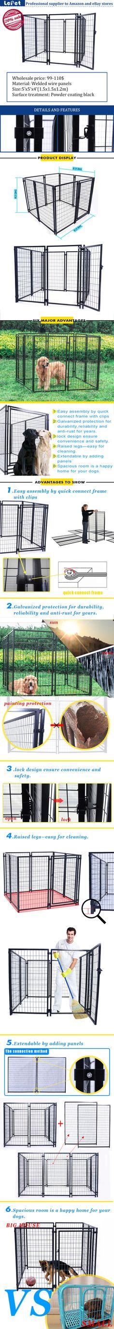 large welded wire dog kennel /chain link dog kennel/dog cage/dog run manufacturer wholesale supplier