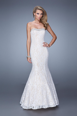 US$178.99 2015 Pink Sleeveless White Zipper Strapless Black Floor Length Lace Blue Ruched Mermaid