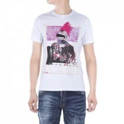 Dsquared2 Men D148 Dean POP Short Sleeves T-Shirt White