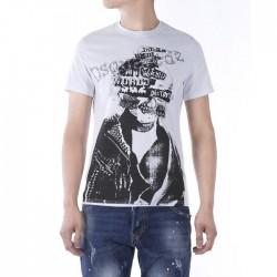 Dsquared2 Men D141 Dean POP Short Sleeves T-Shirt White
