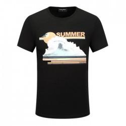 Dsquared2 Men D133 Summer Waves Short Sleeves T-Shirt Black