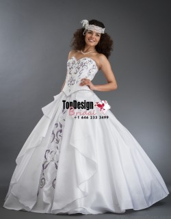 2017 New Beaded Embroidery Sweet 15 Ball Gown White Taffeta Prom Dress Gown Vestidos De 15 Anos