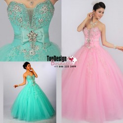 Wholesale 2017 Sweet 15 Dress New Quinceanera Dress Formal Prom Party Pageant Ball Wedding Dress ...