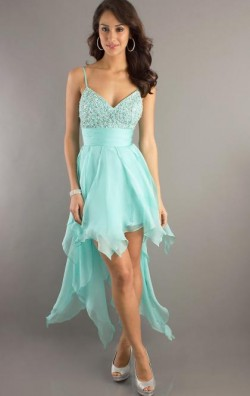 Cheap High Low Blue Tailor Made Evening Prom Dress (LFNAC0021) cheap online-MarieProm UK