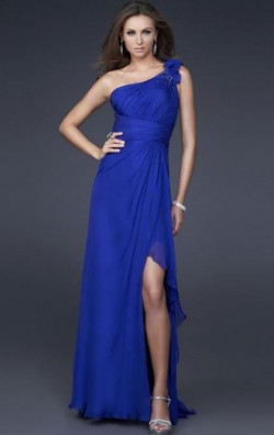 Cheap Long Dark Royal Blue Tailor Made Evening Prom Dress (LFNAF0119) cheap online-MarieProm UK