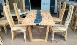 Set Table Dining Trembesi Minimalist Jepara