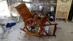Teak Rocking Chair Model Wheel